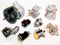 Turbochargers, waste gates, fuel pumps, TCM Teledyne Continental and Lycoming aircraft engine fuel systems, governors, vacuum pumps - - all kinds of aircraft accessories.