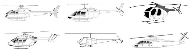 parts for Aerospatiale, Eurocopter, Bell, Sikorsky