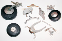 Aircraft tailwheels and parts
