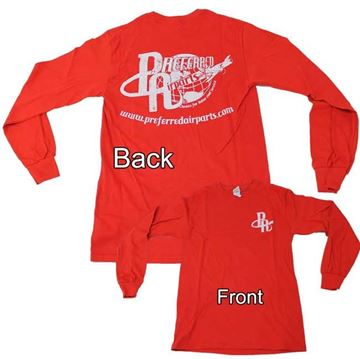 Picture of Preferred Red Retro Long Sleeve Tee's