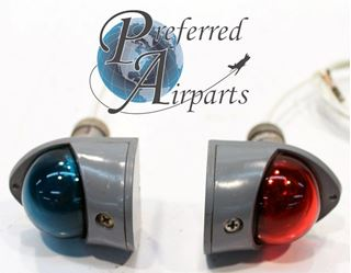 Picture of Used Set of Two Aircraft Navigation Lights part number A1815A. 12 or 24 volt