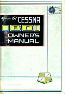 Picture of New 1961 Cessna 180D Aircraft Owners Manual p/n P231-13