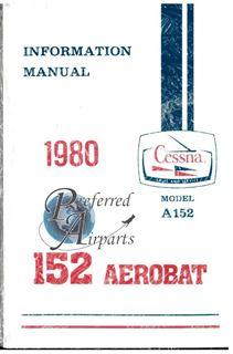 Picture of New 1980 Cessna A152 Aerobat Pilot Information Manual PN D1171-13