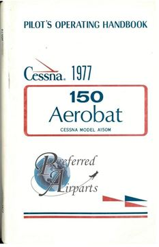 Picture of New 1977 Cessna A150M Aerobat Pilot Operating Handbook PN D1081-13
