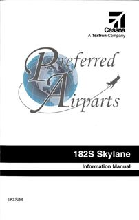 Picture of New Cessna 182S Pilot Information Manual PN 182SIM for 1997 and Later Models
