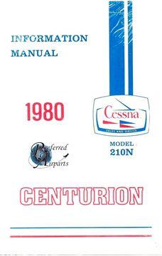 Picture of New 1980 Cessna Centurion 210N Pilot Information Manual P/N D1186-13