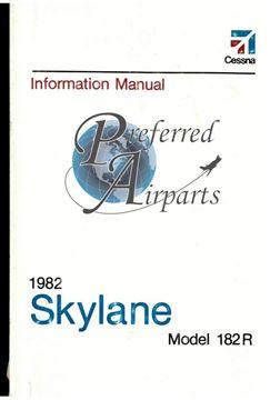Picture of New 1982 Cessna 182R Skylane Pilot Information Manual PN D1215-13