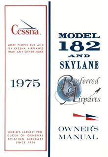 Picture of New 1975 Cessna 182P Aircraft Owners Manual PN D1041-13