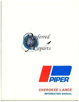Picture of New Piper Cherokee Lance Pilot Information Manual p/n 761-616