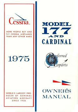 Picture of New 1975 Cessna 177 and Cardinal Aircraft Owner's Manual p/n D1037-13