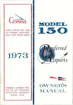 Picture of New 1973 Cessna 150 Owner's Manual p/n D962-13