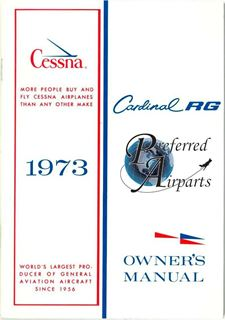 Picture of New 1973 Cessna 177RG Owner's Manual p/n D966-13
