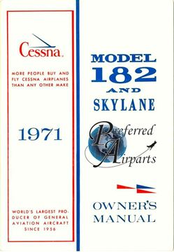 Picture of New 1971 Cessna 182N Owner's Manual p/n D855-13
