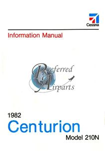 Picture of New 1982 Cessna 210N Information Manual p/n D1226-13.