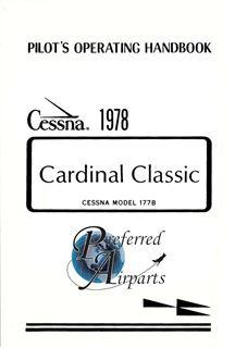 Picture of New 1978 Cessna 177B Cardinal Classic Pilots Operating Handbook p/n D1111-13