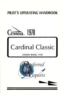 Picture of New 1978 Cessna 177B Cardinal Classic Pilots Operating Handbook p/n D1111-13