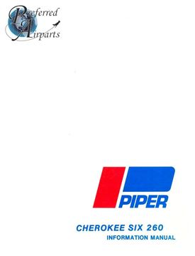 Picture of New Piper Cherokee Six 260 Pilots Information Manual p/n 761-558
