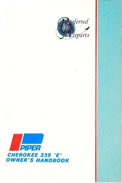 Picture of New Piper Cherokee 235 E Owners Handbook p/n 761-463