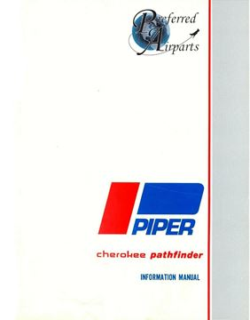 Picture of New Piper Cherokee Pathfinder Pilots Information Manual p/n 761-557