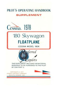 Picture of New Cessna 180 SkyWagon Floatplane Pilots Operating Handbook p/n D1128-13