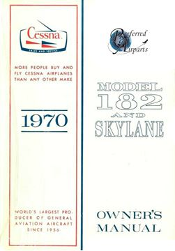 Picture of New Cessna 1970 182/Skylane Owners Manual p/n D754-13