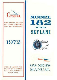Picture of New 1972 Cessna 182/Skylane Owner's Manual p/n D906-13.