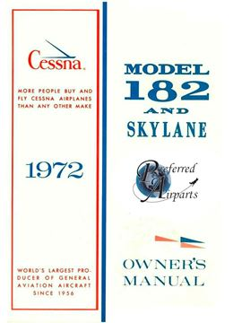 Picture of New 1972 Cessna 182/Skylane Owner's Manual p/n D906-13.