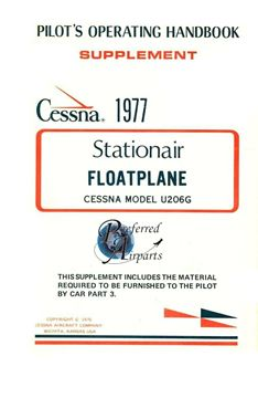 Picture of New 1977 Cessna U206G Floatplate Pilot's Information Manual p/n D1105-13
