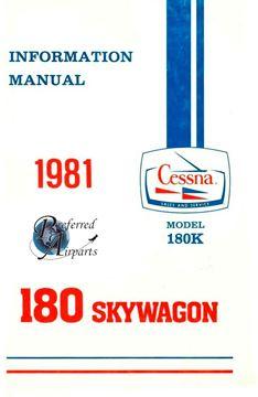 Picture of New 1981 Cessna 180K Skywagon Pilot's Information Manual p/n D1195-13