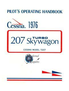 Picture of New 1976 Cessna T207 Turbo Skywagon Pilot Operating Handbook p/n D1068-13
