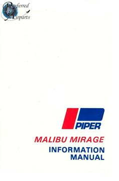 Picture of New 1989-1995 Piper PA46-350P Malibu Mirage Pilot Information Manual p/n 761-825