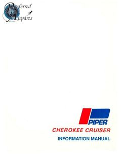 Picture of New 1974-1976 Piper PA28-140 Cherokee Cruiser Pilot Information Book pn 761-555