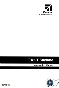 Picture of New Cessna T182T Skylane Pilot Information Manual p/n T182TIM