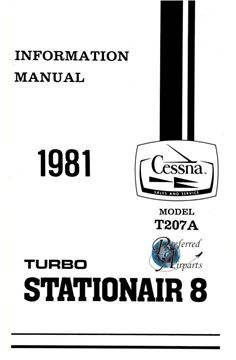 Picture of New 1981 Cessna T207A Turbo Stationair 8 Pilot Information Manual p/n D1206-13