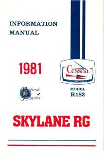 Picture of New 1982 Cessna R182 Skylane RG Pilot Information Manual p/n D1198-13