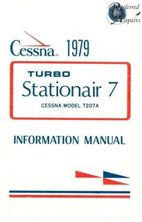 Picture of New 1979 Cessna T207A Turbo Stationair 7 Pilots Information Manual pn D1150-13