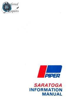 Picture of New 1980 & up Piper PA32-301 Saratoga Pilot Information Manual p/n 761-728