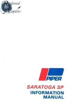 Picture of New Surplus 1980-1993 Piper PA32R-301 Saratoga SP Info Manual p/n 761-727