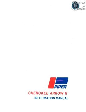 Picture of New 1972-73 Piper PA28R-200 Cherokee Arrow II Pilot Information Book pn 761-493