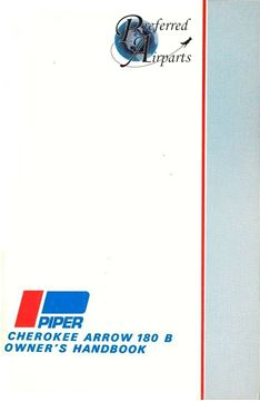 Picture of New Piper Cherokee Arrow 180 B Owners Handbook p/n 761-461