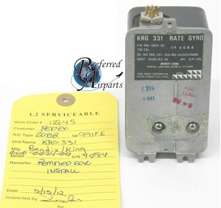 Picture of Serviceable Bendix King KRG-331 Yaw Rate Gyro PN 060-0024-00