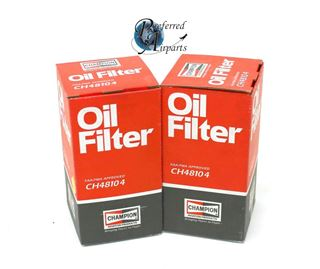 Picture of New Surplus Lot of Two Champion Aviation Products Oil Filters pn CH48104