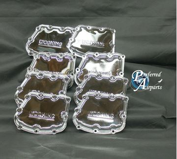 Picture of New Lycoming IO-720 Aircraft Engine Rocker Box Cover Chrome p/n 72242-C