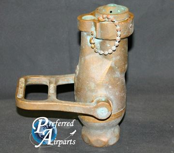 """Picture of Vintage Akron 4AN 1.5"""" Brass Nozzle with Fog Tip with NH / NST Threads. NAVY."""