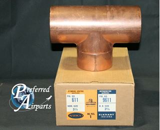 """Picture of New NIBCO Plumbing and Heating 3.625"""" OD Copper Tee Fitting"""