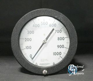 Picture of New Old Stock Ashcroft Duraguage 0 to 1000 psi Pressure Gauge p/n 60-1377SSXSG
