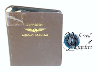 Picture of 1 Lot of 10 Used Jeppesen Aircraft Manual Leather Binders 2 inch Rings